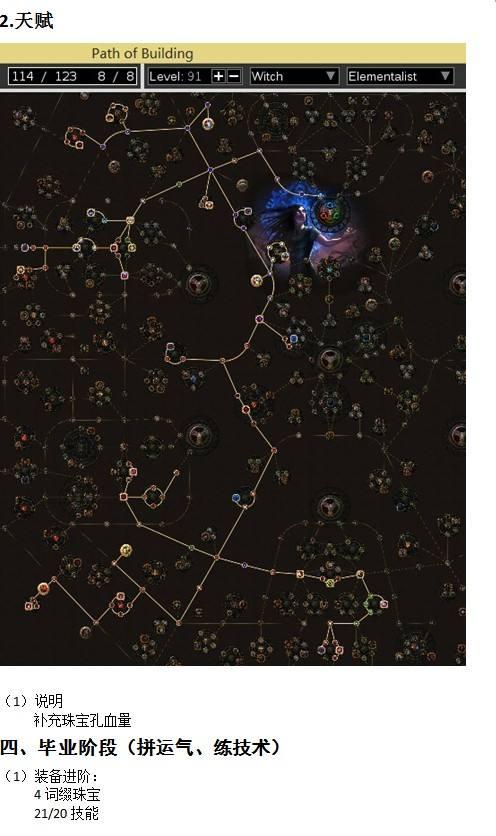 女巫弓箭手BD 元素使爆炸箭一图流详解指引