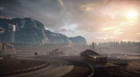 极品飞车OL美如画的风景 迷雾湖畔赛道图集