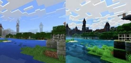 《我的世界》4K画质效果和原始对比