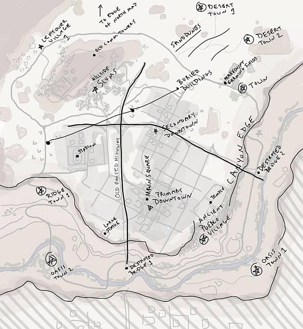 《绝地求生》新地图制作中 为沙漠中的城市