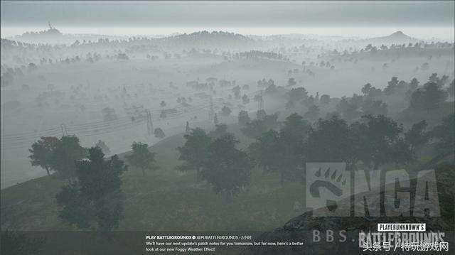 """绝地求生更新新天气""""雾天""""地图预览"""