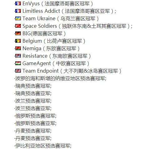 CSGO 预选赛10队已晋级WESG欧洲总决赛