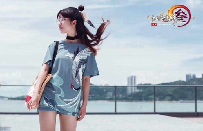 大雅之美 剑网3鹤影天青T恤26日开放众筹