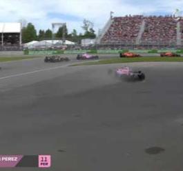 波澜不惊 2018赛季F1加拿大大奖赛正赛集锦