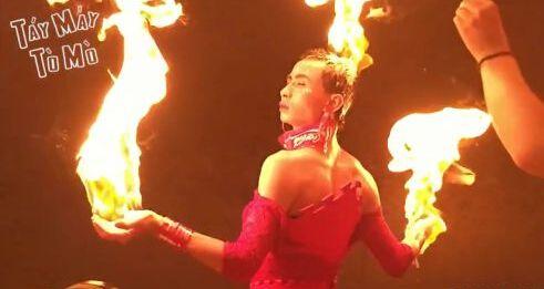 《Dota2》火女cosplay 用汽油浇头点火