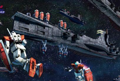《机动战士敢达OL》宇宙战展示