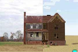 在我的世界里一比一还原现实中的老房子