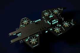 我的世界蝠蟦航母建筑欣赏