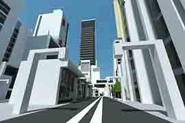 玩家打造充满科技感的简洁现代都市