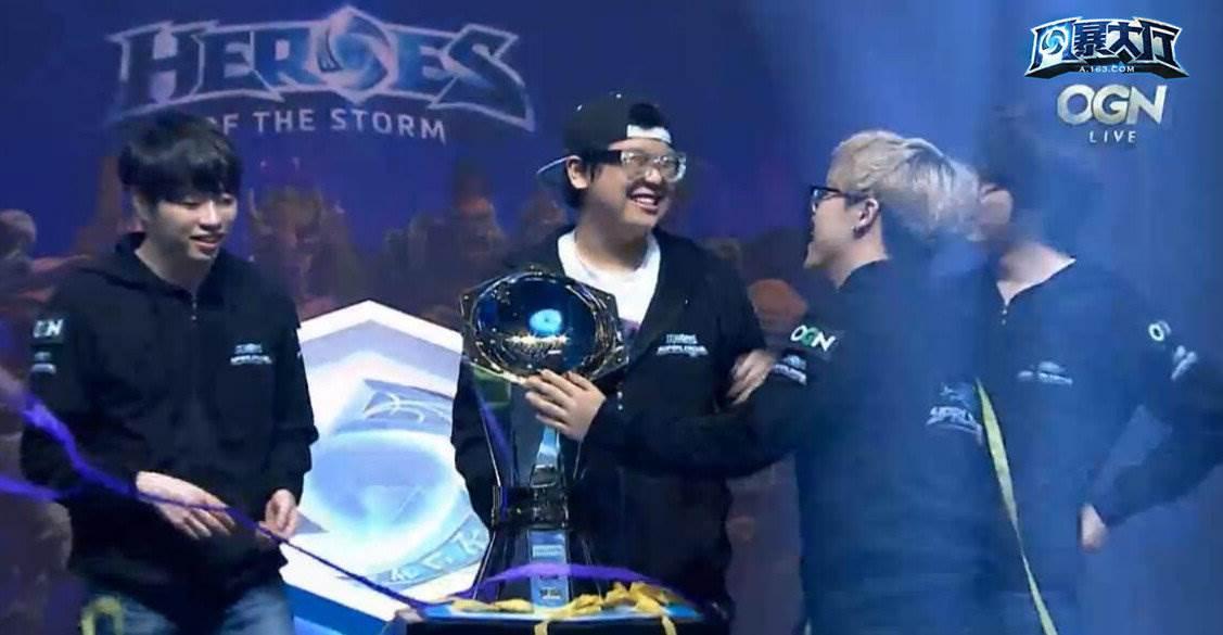 风暴英雄韩国OGN联赛TP夺冠 MVP零比四惨败