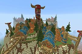艾泽拉斯之旅 我的世界里的魔兽世界风景