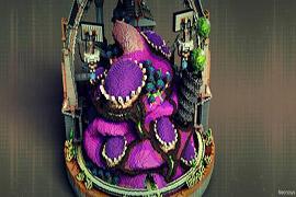 外星巢穴 富有想象力的外星生物主题建筑