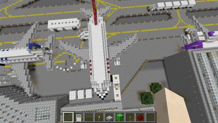 我的世界做飞机 大型飞机场存档云下载