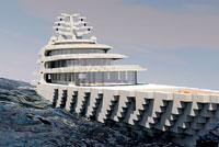 我的世界优秀作品欣赏 超级海上游艇