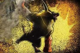 怪物猎人OL双刀无道具S金狮子 绝地反击