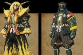 怪物猎人OL金狮子套装武器展示及boss打法