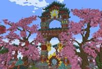 我的世界作品欣赏 亚洲元素风格中心庭院