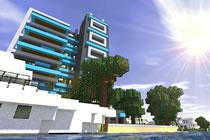 现代的城市建筑群 我的世界场景地图欣赏
