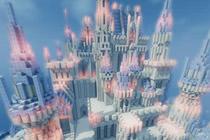 我的世界冰晶闪耀的寒极冰城堡设计图赏