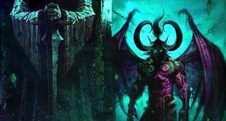 魔兽世界绝对主角 伊利丹外服精美原画欣赏