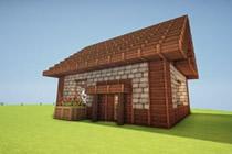 我的世界美图欣赏 漂漂亮亮欧式小房子一览
