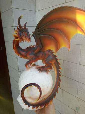 国内手工帝的杰作 魔兽世界黑龙塑像美图集