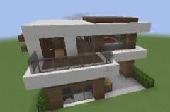 我的世界新手建筑教学系列:谢依西瓜别墅做法