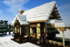 我的世界鬼影解说:教你做个超好看的雪地小屋