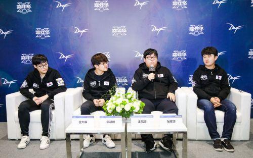2018DNF F1天王赛团体赛冠军韩国队采访QA