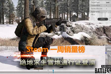 Steam一周销量榜:绝地求生雪地通行证登顶