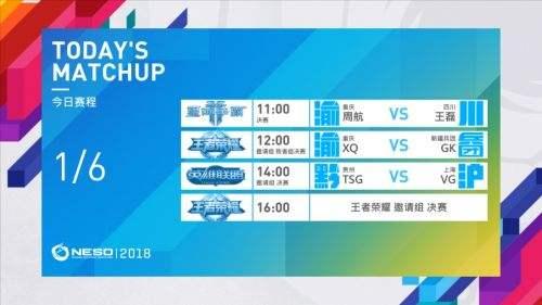 NESO2018决赛日 国家杯即将诞生