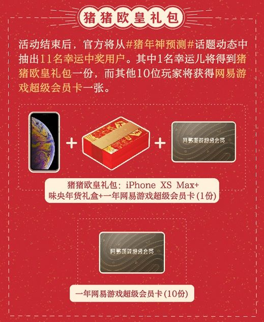 玩转猪年运势神预测 上网易大神赢iPhone XS Max等多重奖励