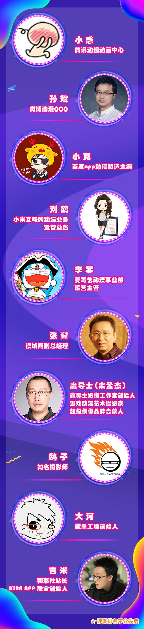2019ChinaJoy Cosplay封面大赛现已开赛 评委名单正式公布!