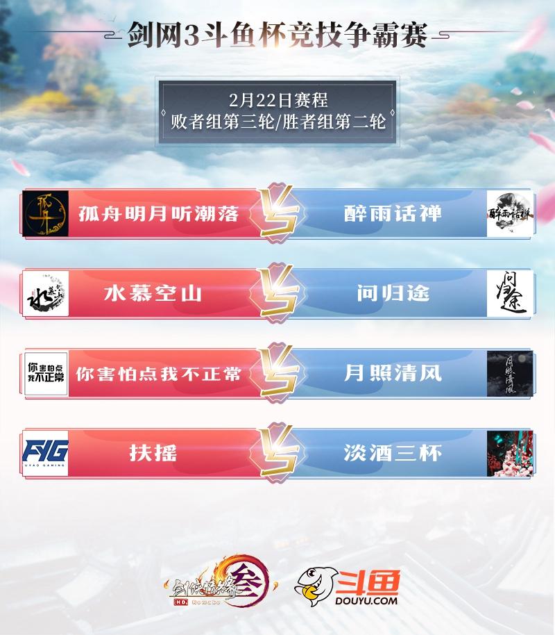 《剑网3》斗鱼杯2月24决赛上演 巅峰对决拉开序幕