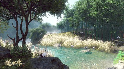 《逆水寒》精美游戏人物风景截图