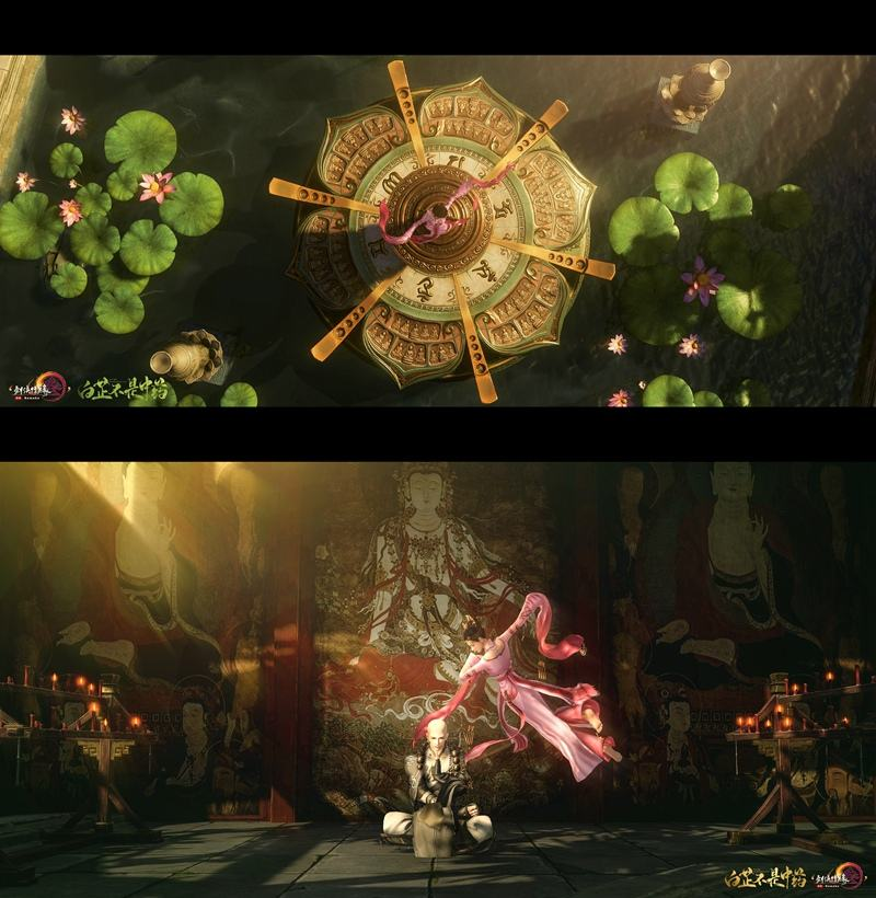 反弹琵琶已经安排上了 当《剑网3》遇上敦煌飞天