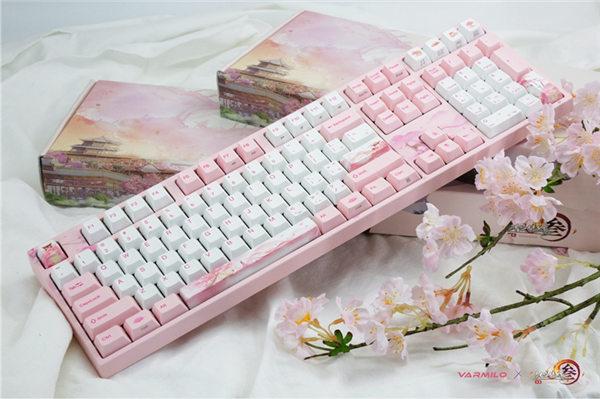 阿米洛×剑网3联名定制版机械键盘曝光 首发七秀门派主题