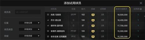 NBA2KOL2球员试用系统今日上线