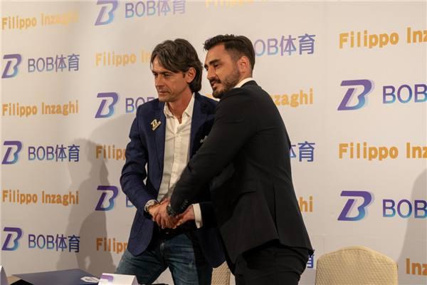 意大利足球名宿菲利普因扎吉出席BOB体育代言人发布会