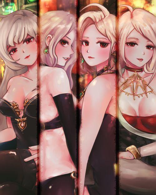 传说中的酒吧四美 女鬼剑玩家同人作品欣赏