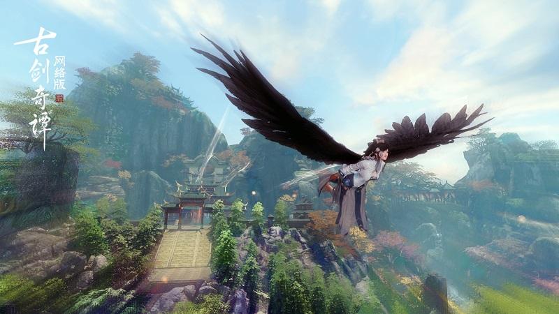 《古剑奇谭网络版》趣味飞行竞速玩法上线,以御物飞行之法一较高下
