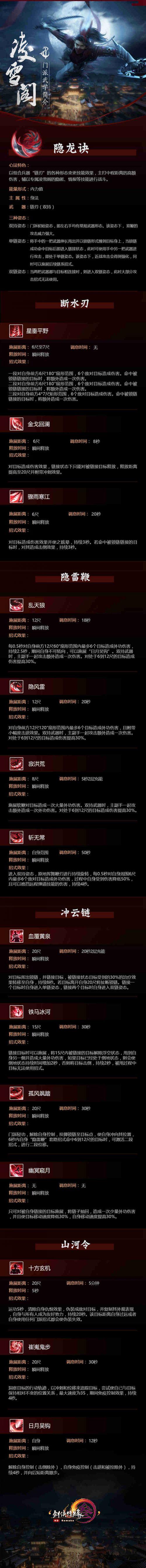 《剑网3》凌雪藏锋首测今日开启 新门派凌雪阁开放体验