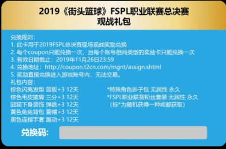 决战杭州 《街头篮球》FSPL总决赛门票开售