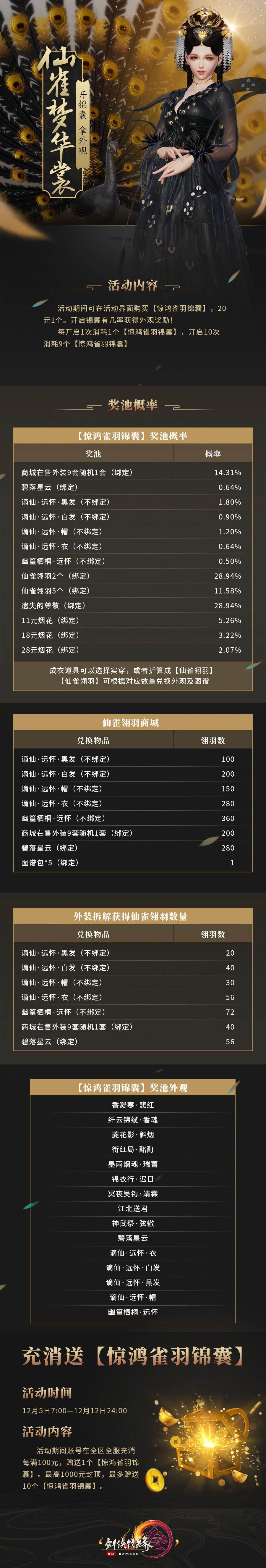 《剑网3》双十二剧情大片首映 黑金谪仙礼盒不限量