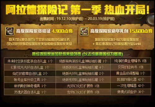 DNF12月版本新增战令