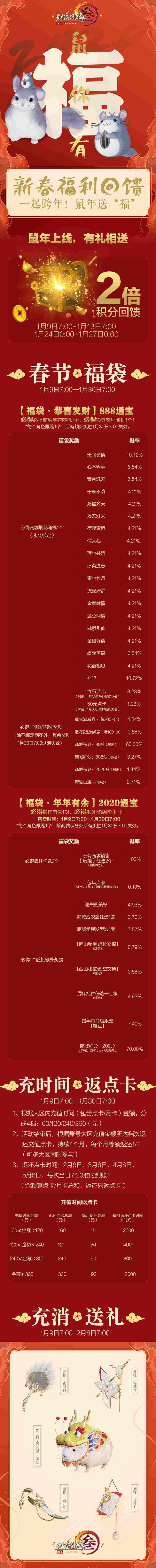 《剑网3》新春盛典1.9隆重开启 飞雪折梦大片今日首映