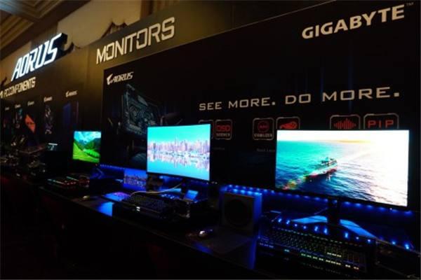 技嘉在CES 2020展出多款電競顯示器