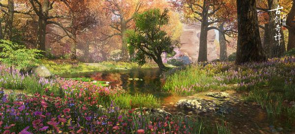 《古剑奇谭OL》绝美山川之景,迎接三月春色