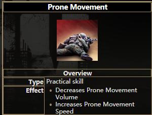 逃离塔科夫匍匐移动技能有什么用 匍匐移动技能属性一览