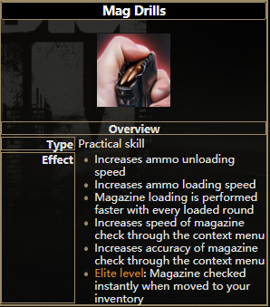 逃离塔科夫压弹技能有什么用 压弹技能属性一览